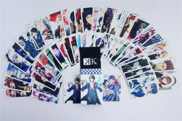 Japan Anime K Project KK Suoh Mikoto Cosplay Deck Playing Cards Pokers