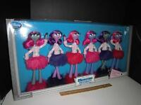 Disney Monsters University Inc. - Cheerleaders Fashion Doll Set Of 6 - Rare