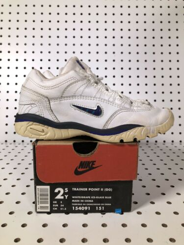 Vintage Nike Trainer Point II 960810 00 Size 2.5y