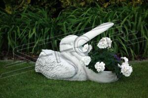 Blumenkübel Pflanz Kübel Dekoration Figur Blumentöpfe Garten Vasen Pelikan Neu