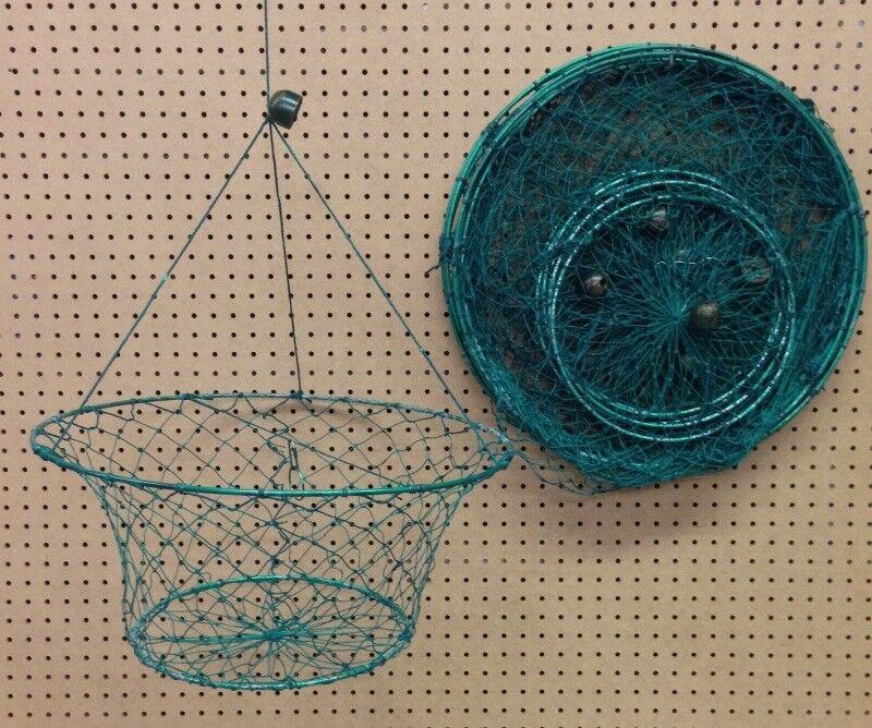 Crab Nets Grün Dipped- Double Ring- One Dozen