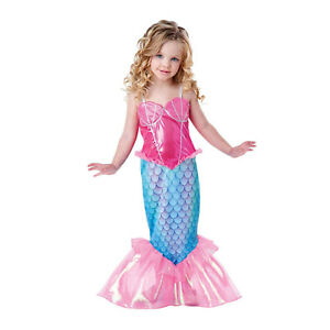Toddler-Kids-Girls-Little-Mermaid-Tail-Ariel-Halloween-Cosplay-Costume-Dress