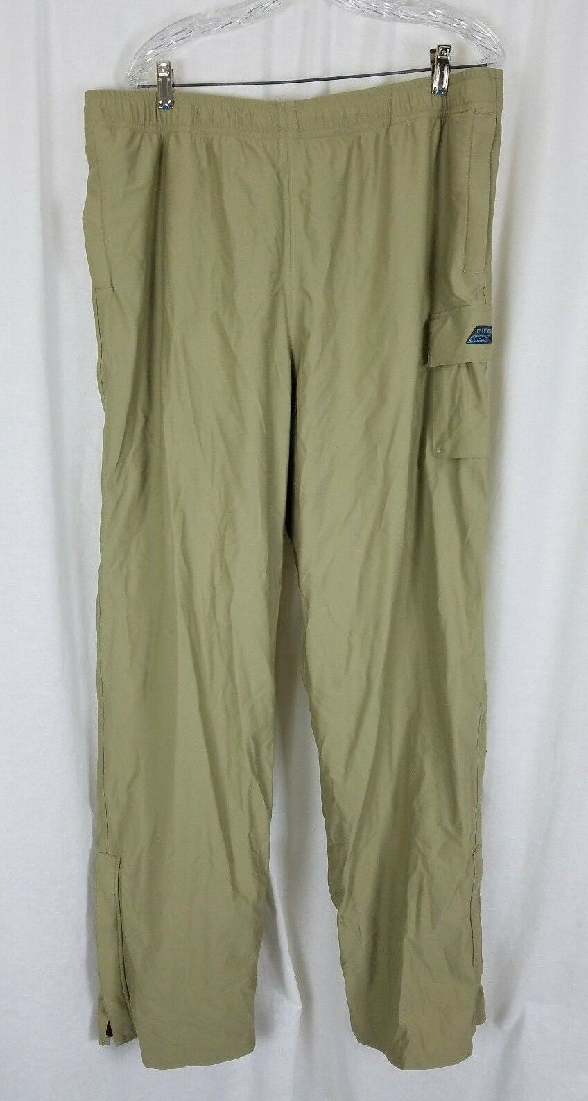 Fidra Storm Proof Mesh Lined Khaki Cargo Pants Mens XL 36 x 33 Tan John Ashworth