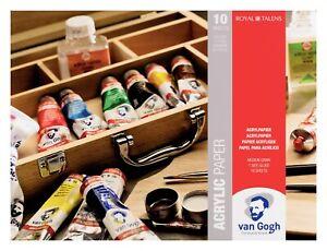 Van Gogh Peinture Acrylique Papier Bloc Patin 24 x 32cm 10 Pages