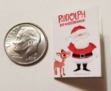 "Miniature dollhouse Christmas Santa Rudolph book Barbie 1//12 Scale 1/"" Hermie"