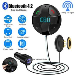 Handsfree-Wireless-Bluetooth-4-2-FM-Transmitter-Car-Kit-Mp3-Player-USB-Charger