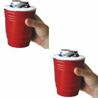 Red Solo Cup Koozie Set Of 2 Kozy Cozy Beer Drink Holder Tailgate Hider Storage