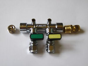 8mm-Gas-Manifold-2-tap-straight-inlet-and-plug-LP-Gas-Caravan