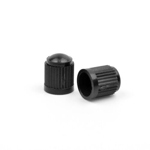 100pcs//pack Black Stem Caps Replacement Cars Motorcycle Truck Wheel Tire Valve