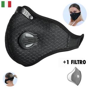 Protezione-Anti-Inquinamento-Antipolvere-e-Antismog-Con-Filtro-Lavabile-Nero