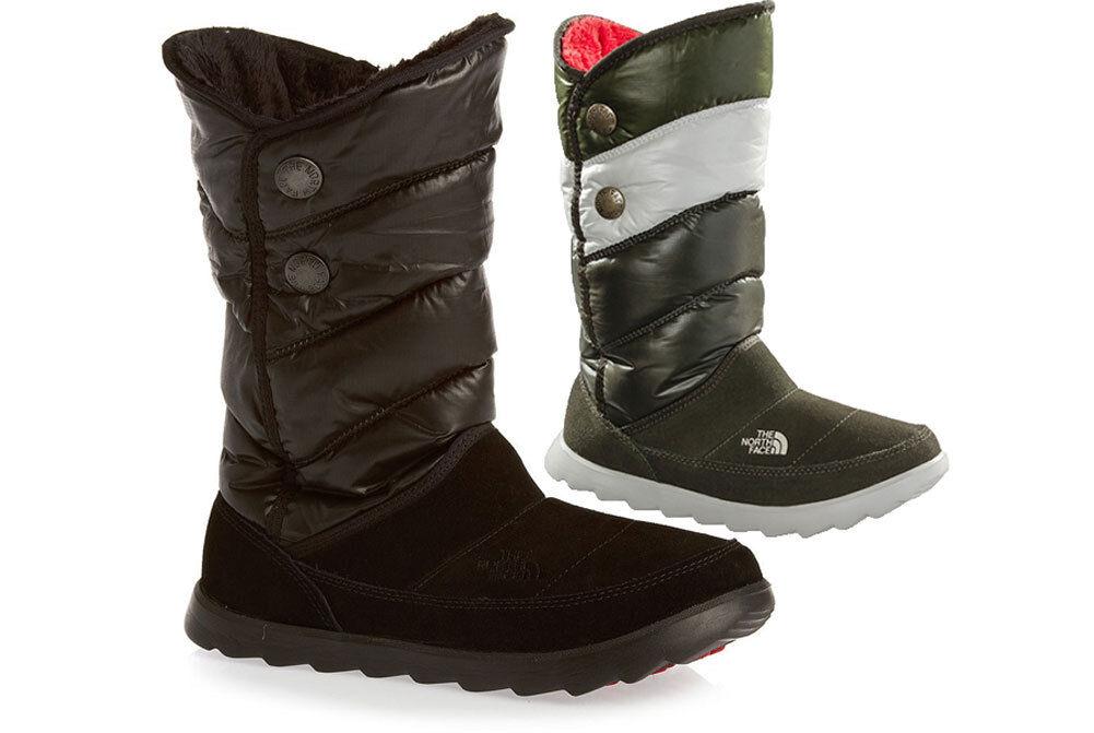 The North Face SOPRIS gefütterte Damen Winterstiefel Ski Stiefel schwarz grün