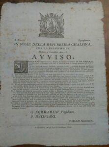 1797-MODENA-REPUBBLICA-CISALPINA-AVVISO-SULLA-CURIOSA-TASSA-D-039-ASSENZA