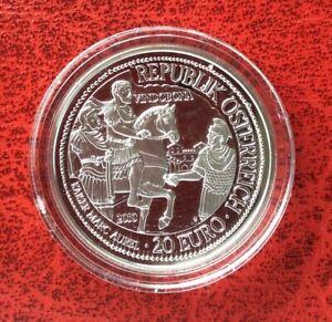 Autriche-Magnifique-monnaie-de-20-euro-2010-Proof-Vindobona-Marcus-Aurelius
