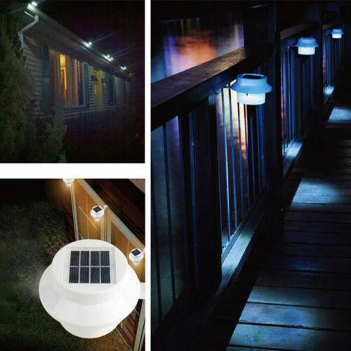 Outdoor LED Solar Powered Light Garden Yard Wall Fence Pathway Lamp Waterproof
