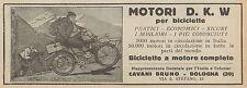 Y7901 Biciclette a motore D.K.W. - Pubblicità d'epoca - 1925 Old advertising