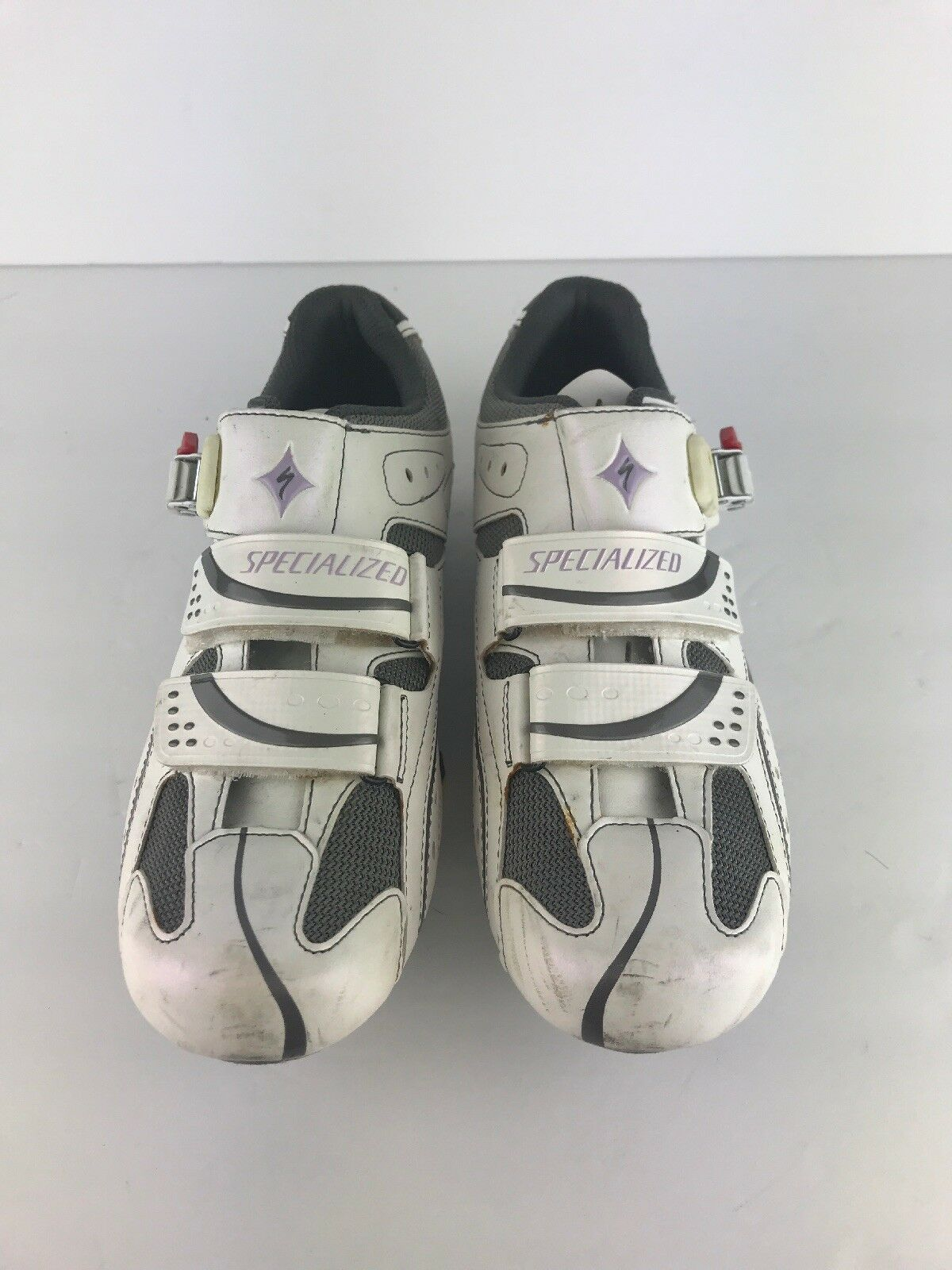 Specialized BG Spirita White Leather Road Bike Cycling shoes US 9 GREAT
