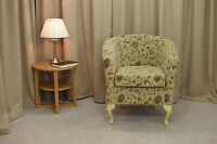 Tub Chair In A Virginia Floral Fabric - Free Uk Mainland Delivery