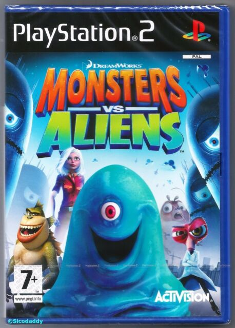 PS2 Monsters Vs Aliens (2009) UK Pal, Brand New & Sony Factory Sealed