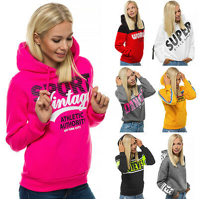 Kapuzenpullover Hoodie Sweatshirt Sweatjacke Aufdruck Motiv Print Damen OZONEE 5