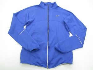 Details about NIKE  JK2120 Women s Size S Fitted Fleece Athletic Dri-Fit  Running Blue Jacket 1e5b80cd0d
