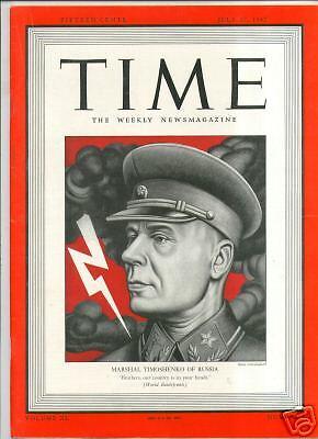 MAGAZINE TIME   Marshal Timoshenko JULY 27    1942
