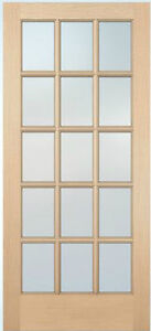 15 lite hemlock stain grade solid exterior entry or patio for 15 lite entry door