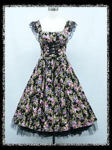 dress190-BLACK-FLORAL-50s-CAP-SLEEVE-CORSET-ROCKABILLY-PROM-PARTY-DRESS-UK-14-16