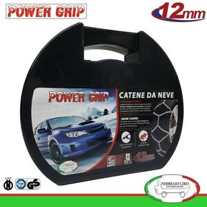 Catene-Neve-Power-Grip-12mm-Gruppo-120-gomme-215-65r16-Dacia-Duster