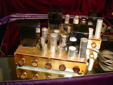 Very Rare Pair of Pilot AA-905 AA905 Pilotone KT66 Tube Integrated Amplifiers