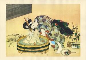 Shunga and japanese erotic print