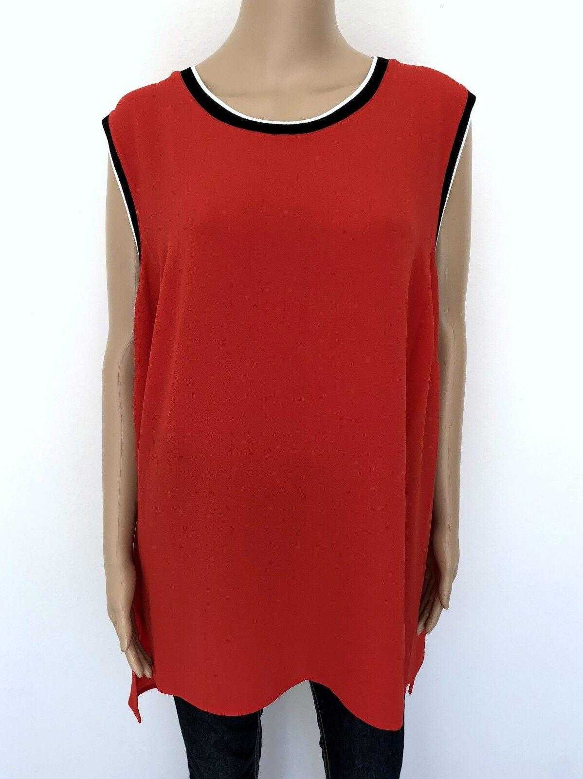 NWT  VINCE CAMUTO Plus Größe 3X Weiß schwarz rot T-Shirt Tee Top Blouse Woherren