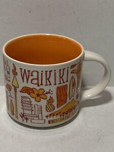 Starbucks Coffee Hawaii Waikiki Mug Cup Been There Ceramic 2019 MINT Condition