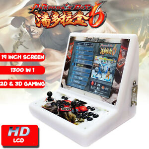 Details about Bartop Arcade Game Fighting Machine 1300 in 1 2 player  Joystick HDMI USB HD LCD