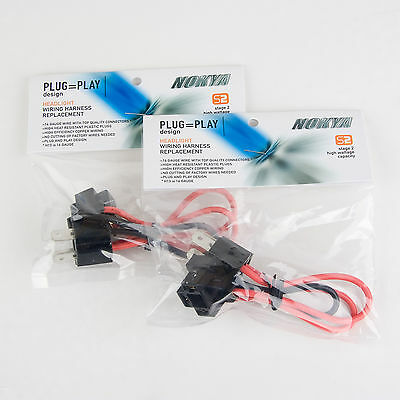 Nokya Heavy Duty Headlight Wiring Harness H4/9003/HB2/H4H ... on