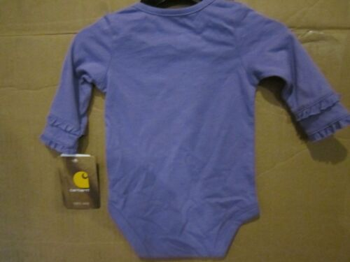 Carhartt Kids Long Sleeve bodysuit Born To Farm Purple Animals Tractor Sparkle