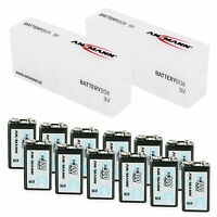 Ansmann 9v Rechargeable Battery (12pcs.) + 2x Battery Box For Transport