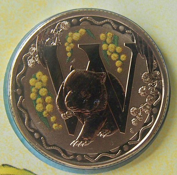 2016 AUSSIE ALPHABET -W- $1 UNC COINS -NOT ISSUED FOR CIRCULATION