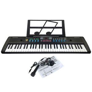 JJPRIME-61-Keys-Digital-Electronic-Keyboard-amp-Microphone-Electric-LED-Music