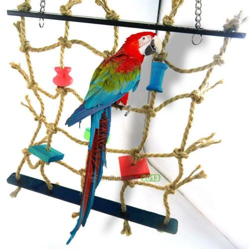 Funny Acrylic Rope Net Swing Ladder for Pet Parrot Birds Chew Play Toy Climbing