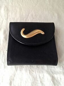 Rare Unworn Robert Lee Morris Leather Trifold Carryall Wallet Iconic Hardware
