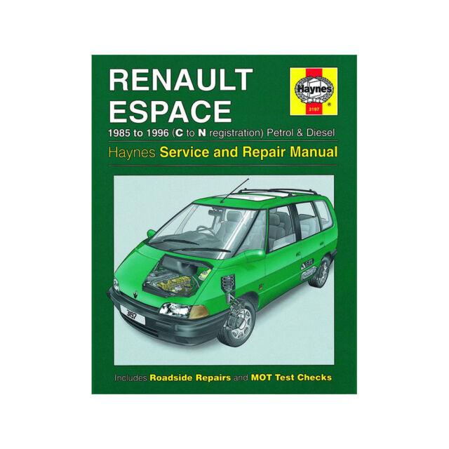 Haynes workshop car repair owners manual renault espace petrol renault espace 20 22 petrol 21 diesel 1985 96 c to n reg publicscrutiny Choice Image