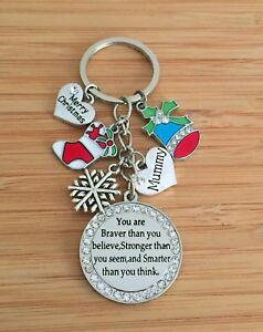 XMAS GIFT keyring for Mum Daughter sister Friend cousin Nan Christmas Gifts 4