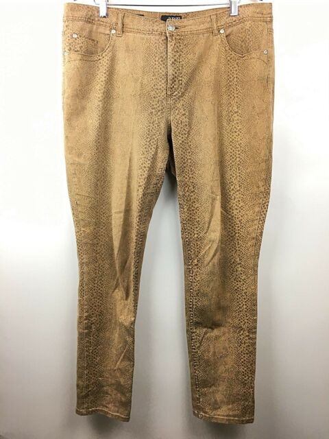 c2a6fd9ced4 Ana Cheetah Print Skinny Jeans Womens Leopard Plus Sz 16 Stretch A New  Approach