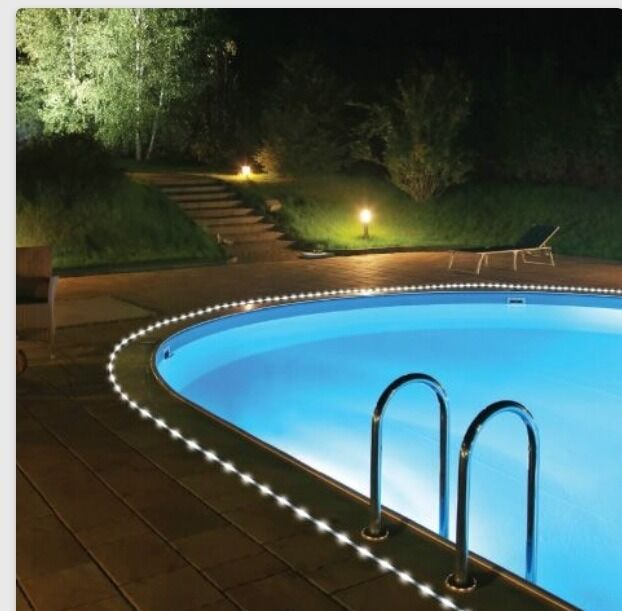 Solar Rope Light 50 Led Garden Outdoor Party Auto Yard Security Pool Ebay