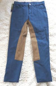 Harry-s-Horse-Kinder-Reithose-Vollbesatz-blau-Gr-170-faellt-weit-aus-526