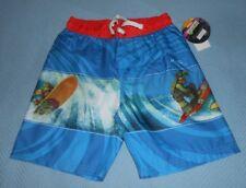 TMNT Teenage Mutant Ninja Turtles Boys Swim Shorts UV50 Blue Size 5 or 6 #7611