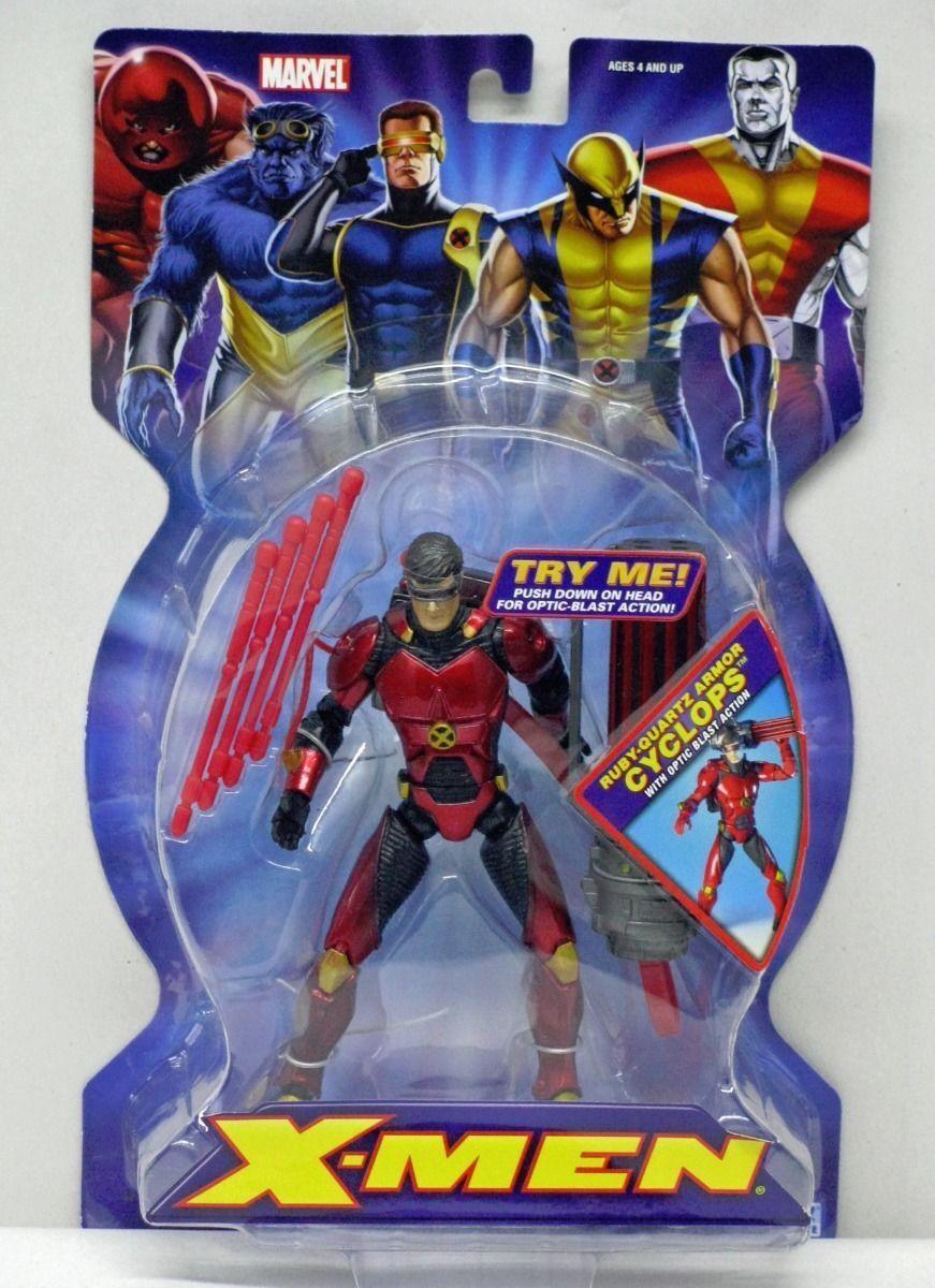 Classic X-Men Ruby Quartz Armor Cyclops ToyBiz NIP 4+ 2005 6 inch S173-5