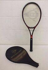 """Vintage Dunlop McEnroe Comp Tennis Racquet w/4 5/8"""" Grip & Head Cover EXCELLENT"""