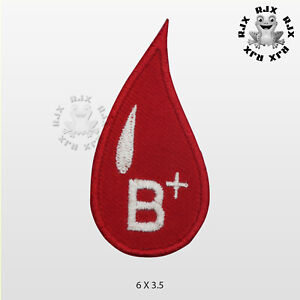 B Positive Blood Drop Patch Iron On Patch Sew On Embroidered Patch