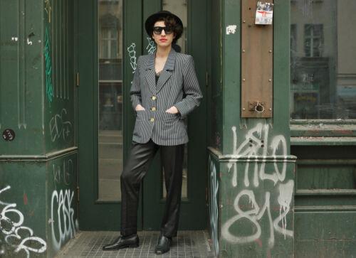Pantalon Vintage Damen Pantalon Hose Schlange 90's Noir Muster 4rwwYIq1